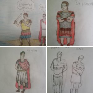 Drawings of Roman Emperors