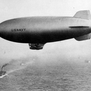 US Navy Airship World War II Blimp