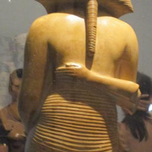 Yellow Limestone Statue of Pharaoh Akenaton