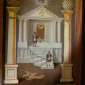 Masonic Library Second Degree Tracing Board