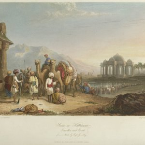 Scene_in_Kattiawar,_Travellers_and_Escort.jpg