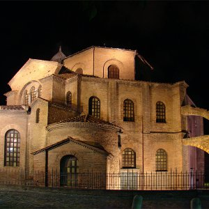 The Basilica of San Vitale is a Byzantine church in Ravenna, Italy..jpg