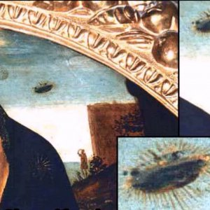 Madonna with UFO in Christian Painting